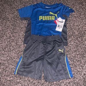 Puma Boys T-shirt/Shorts Set SZ.18 months